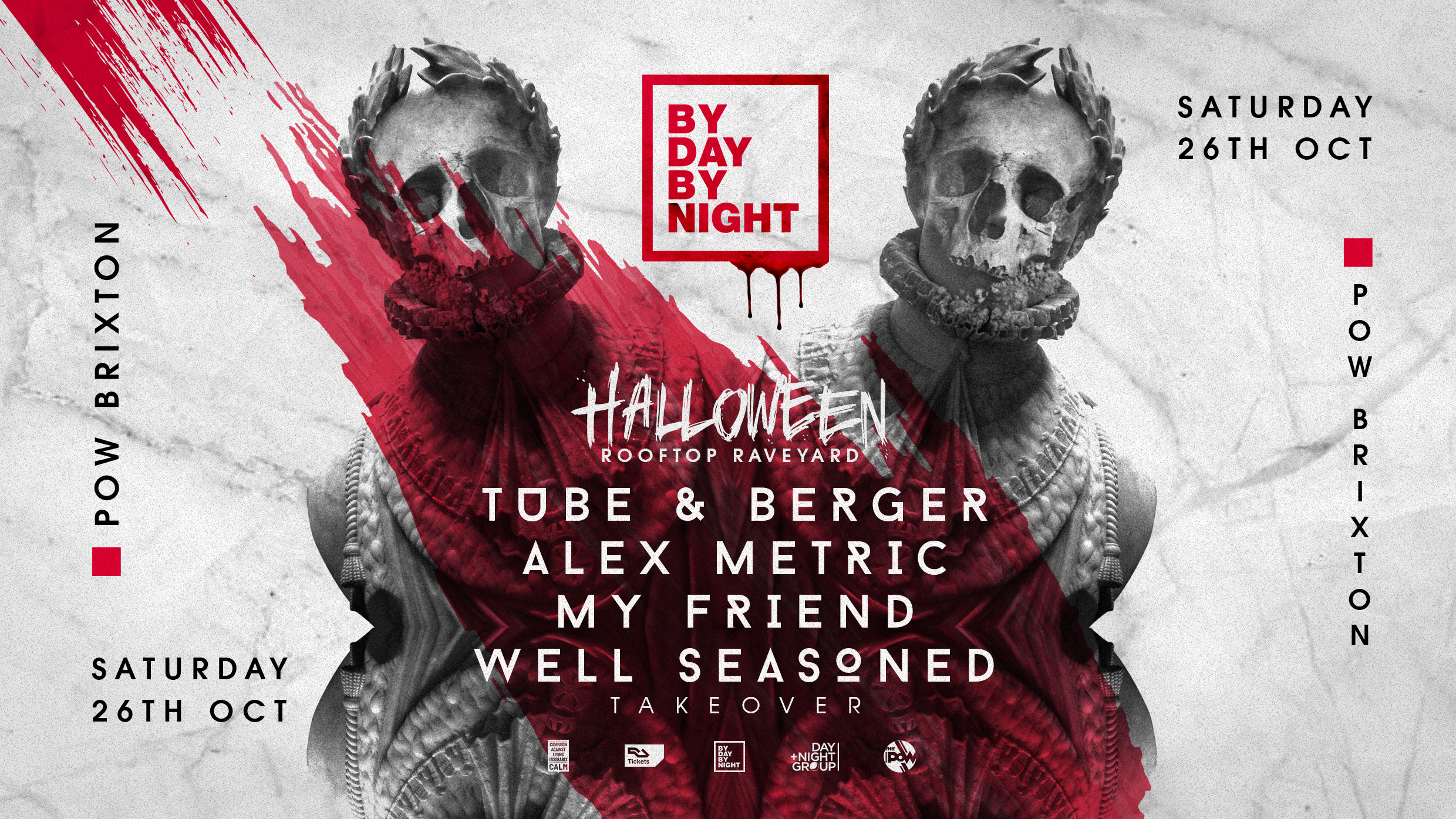Halloween Rooftop Rave with Tube & Berger, Alex Metric