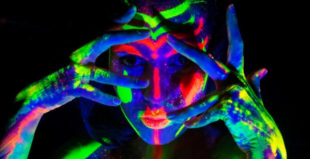Royal Society Hosts Neon Naked Life Drawing Class