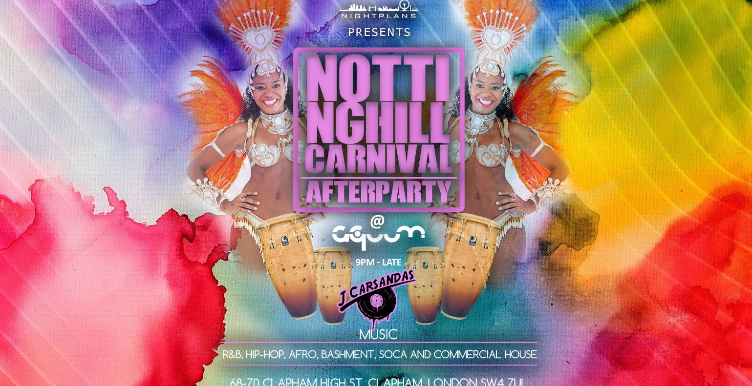 Notting Hill Carnival Afterparty