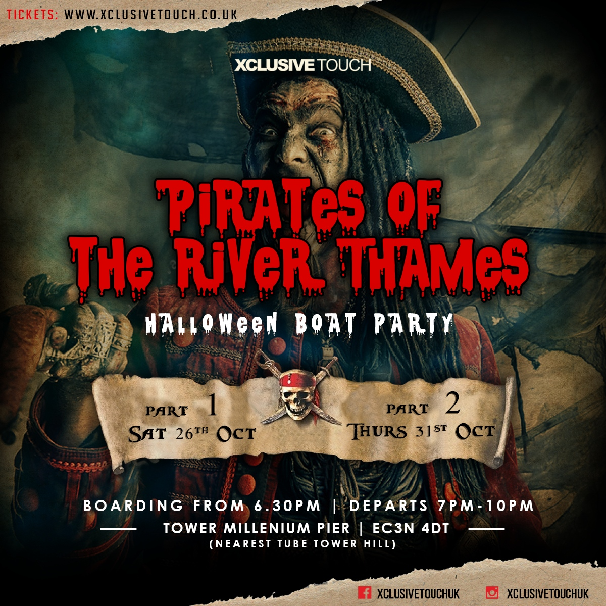 Pirates of the River Thames | Halloween Boat Party