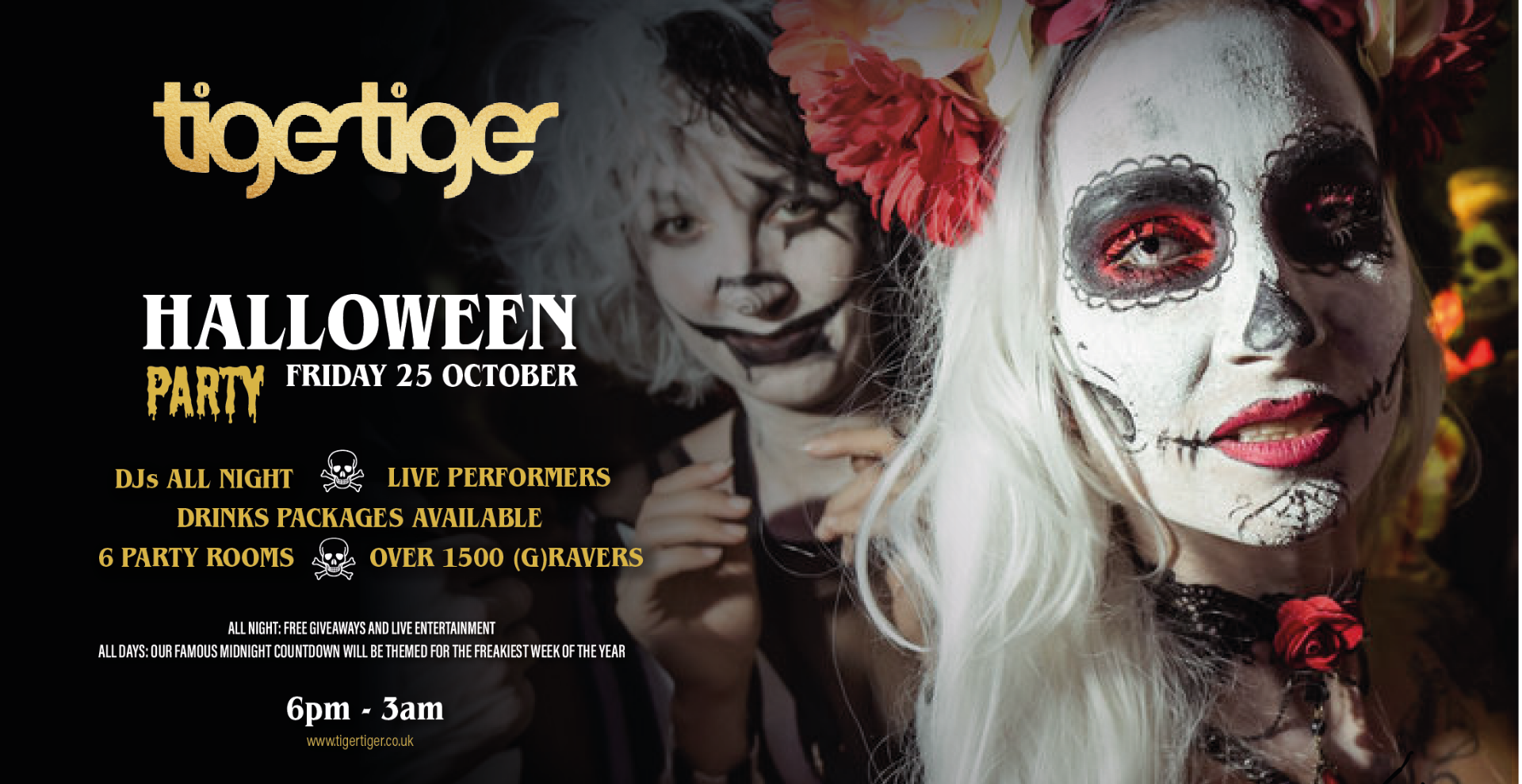 Halloween Weekender at Tiger Tiger - Friday