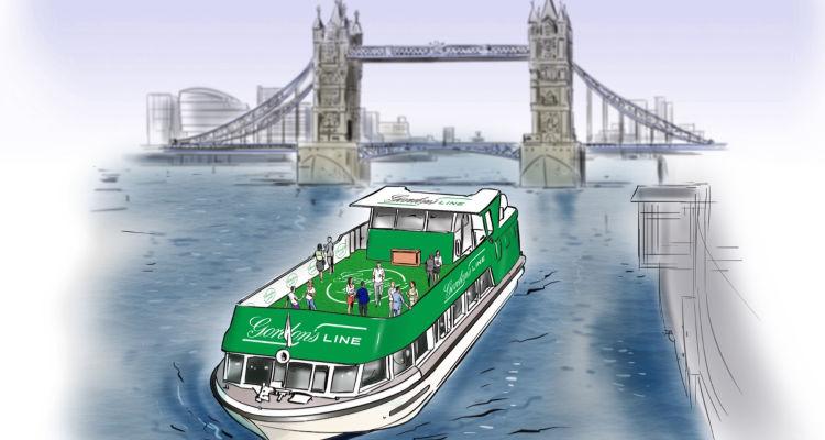 Gordon's Gin Boat River Thames
