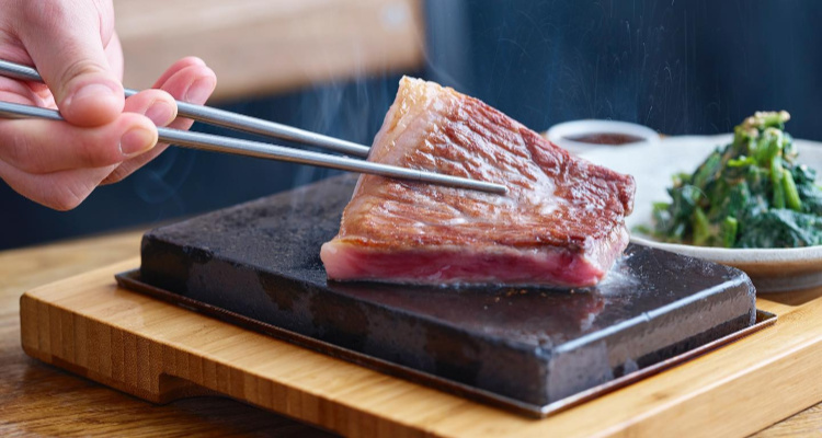 Hot Stone wagyu steak