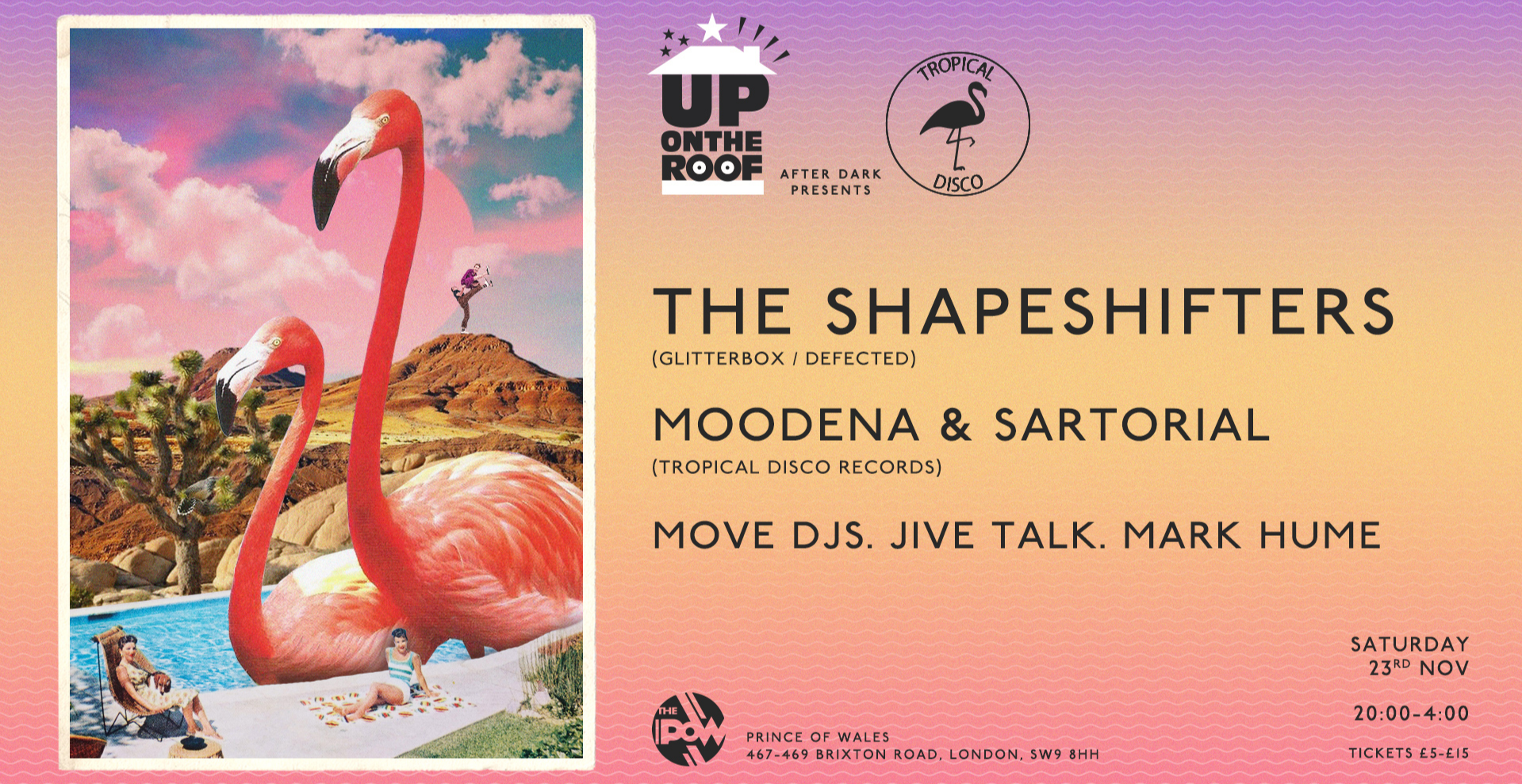 Up On The Roof x Tropical Disco Records with The Shapeshifters