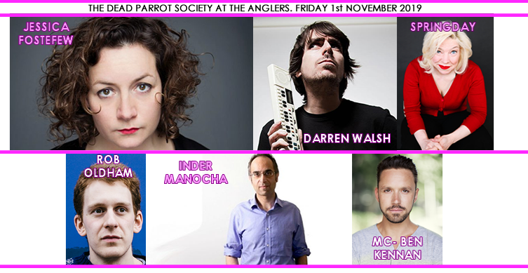The Dead Parrot Society's stand-up comedy at The Anglers