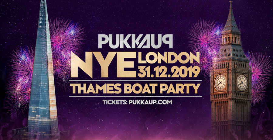 Pukka Up New Years Eve - Thames Firework Boat Party