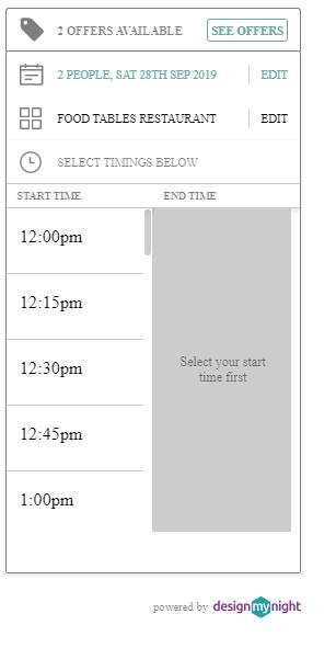 initial widget - selecting times