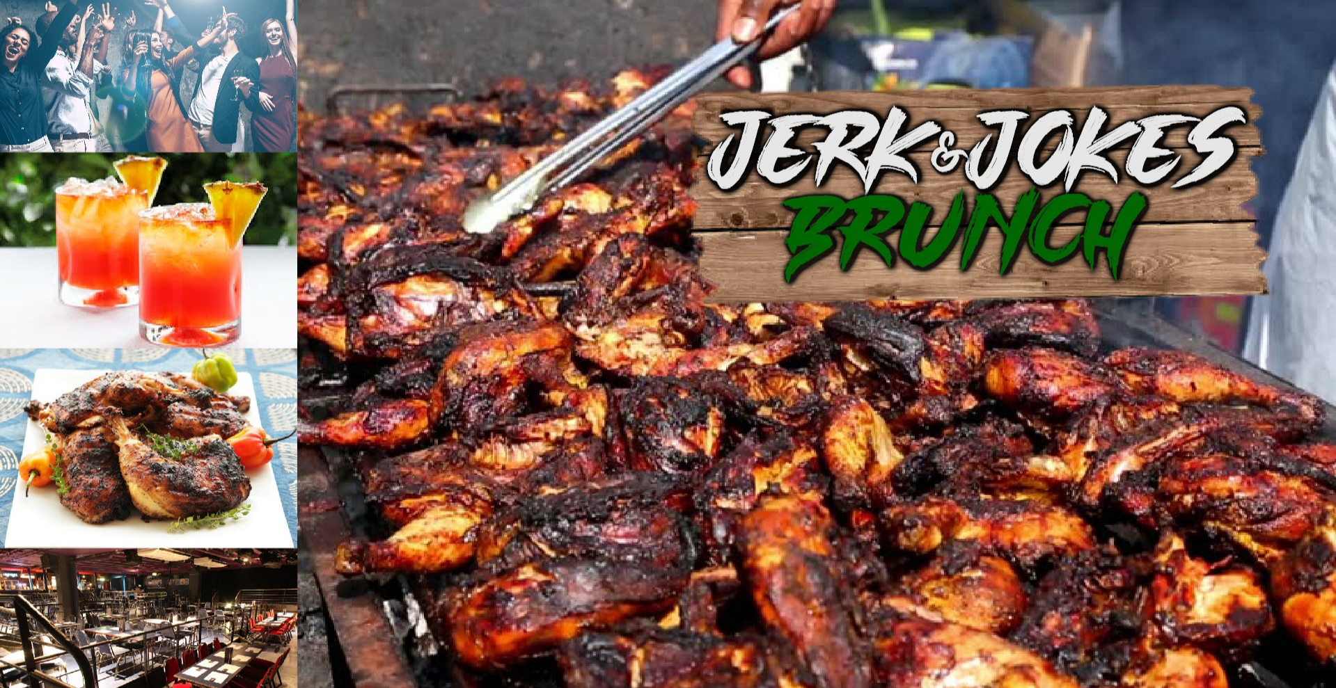 Jerk and Jokes Brunch - 19th April 2020