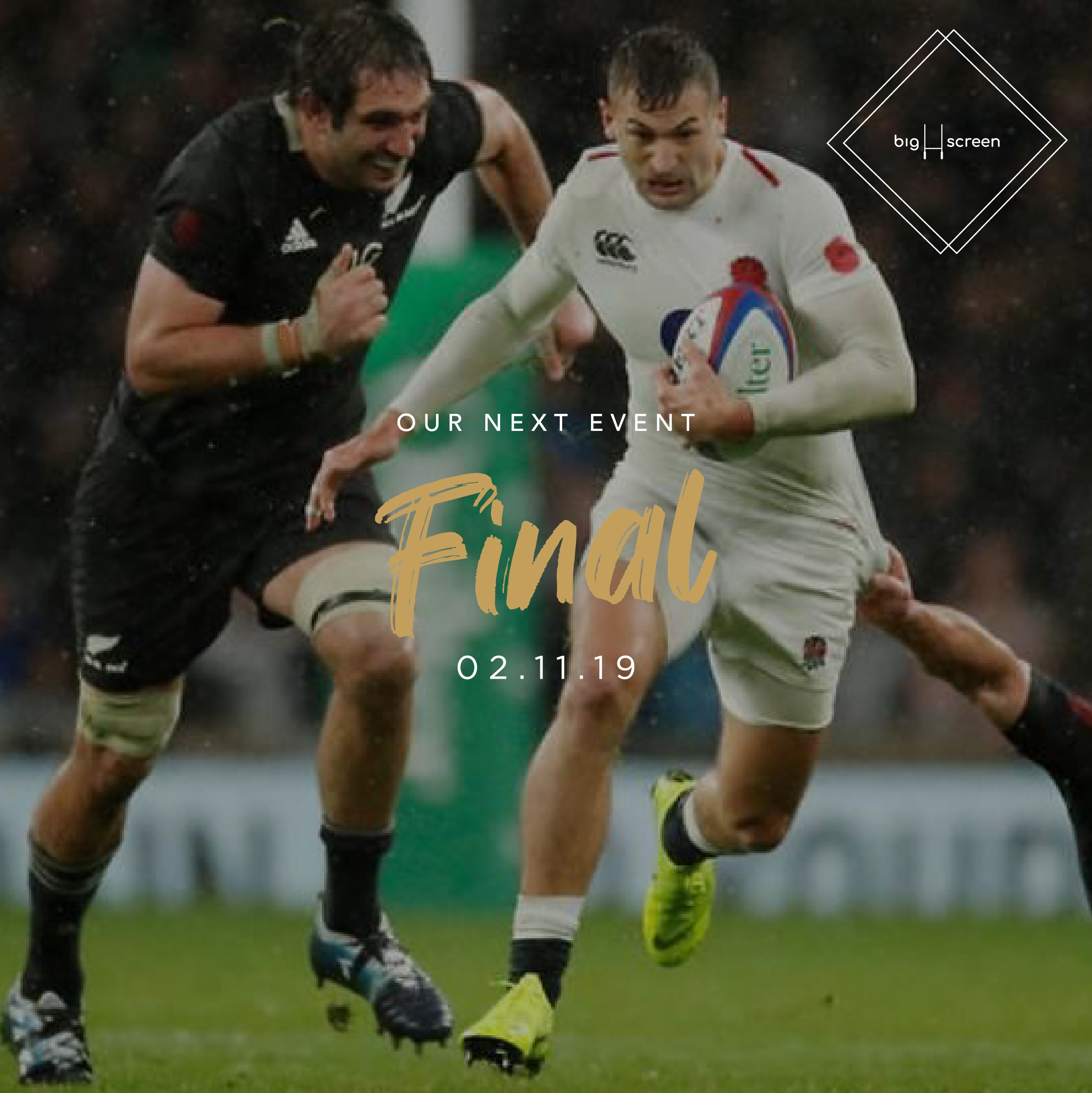 Rugby World Cup Finals I big screen 2019
