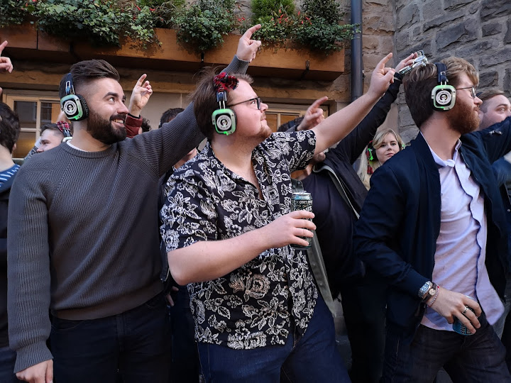 West End Big fat G*A*Y walking silent disco