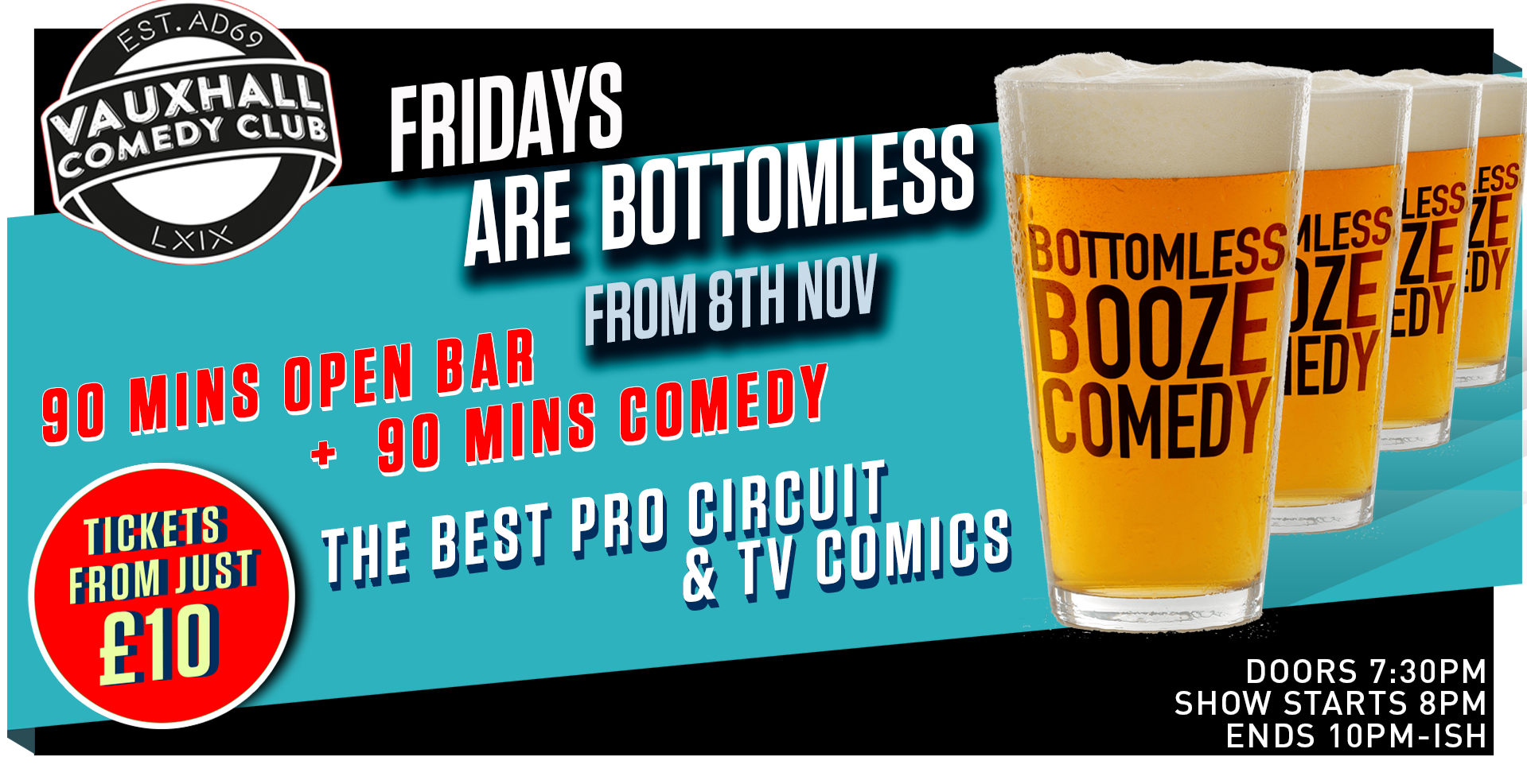 Bottomless Booze Comedy (Friday)