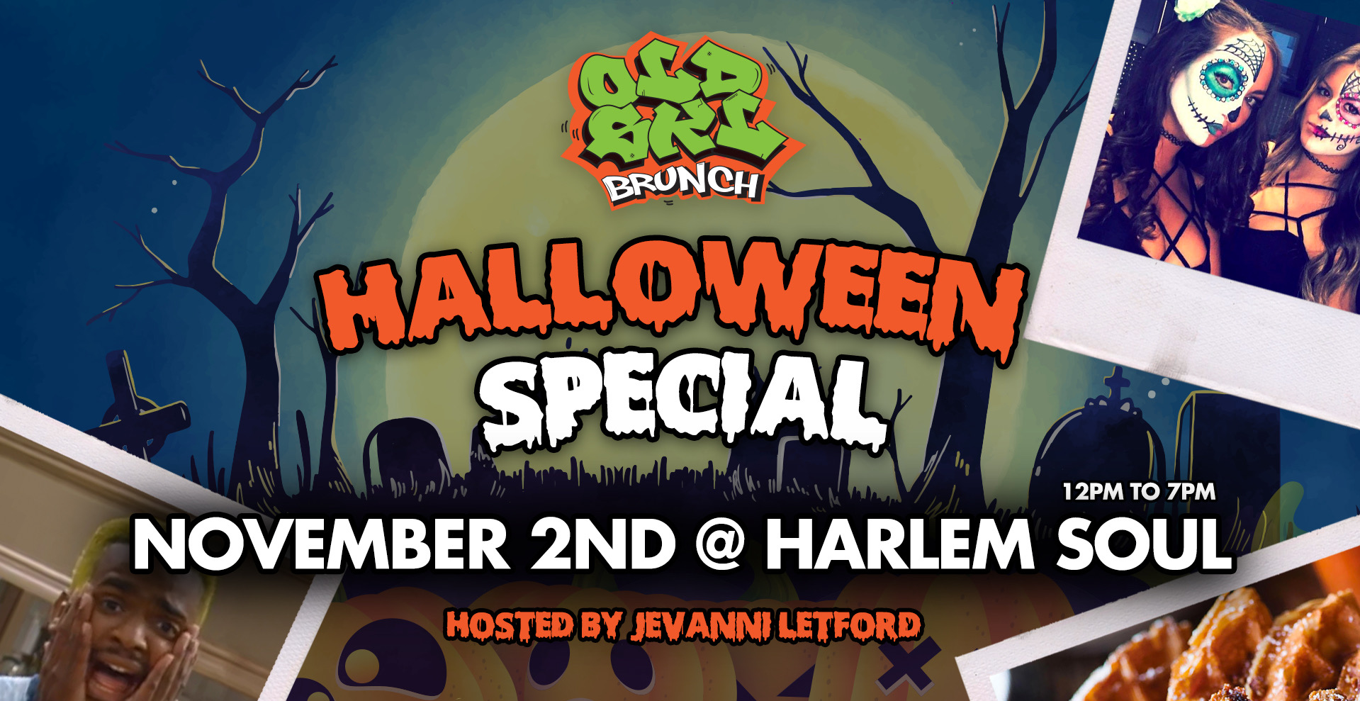 Halloween Special : Old Skl Brunch w/ 90 Mins Bottomless Rum Punch & Prosecco