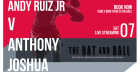 Andy Ruiz Jr v Anthony Joshua, The Rematch.