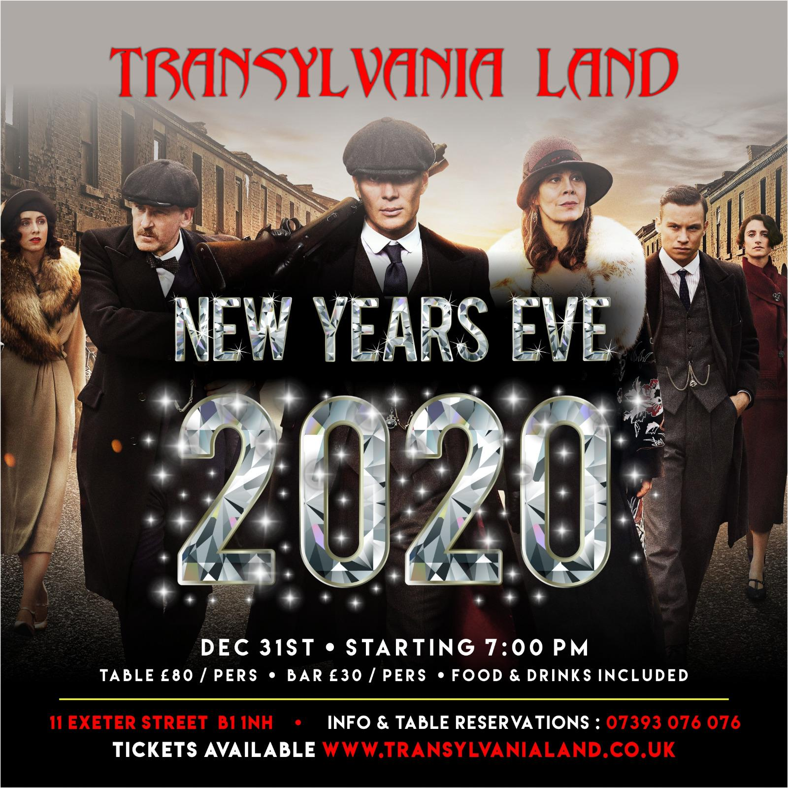 Transylvania Land NEW YEARS Party