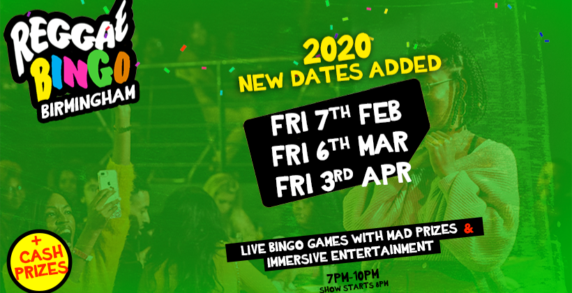 Reggae BINGO Birmingham - Fri 7th Feb