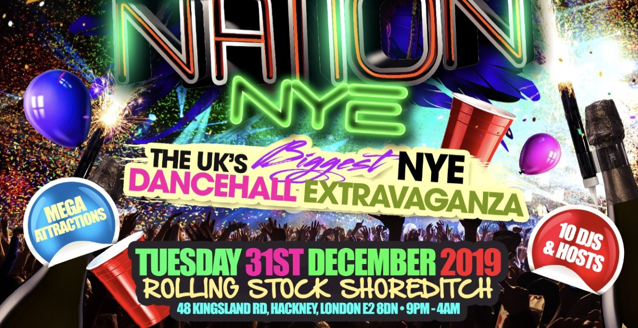 BASHMENT NATION - NYE Dancehall Party