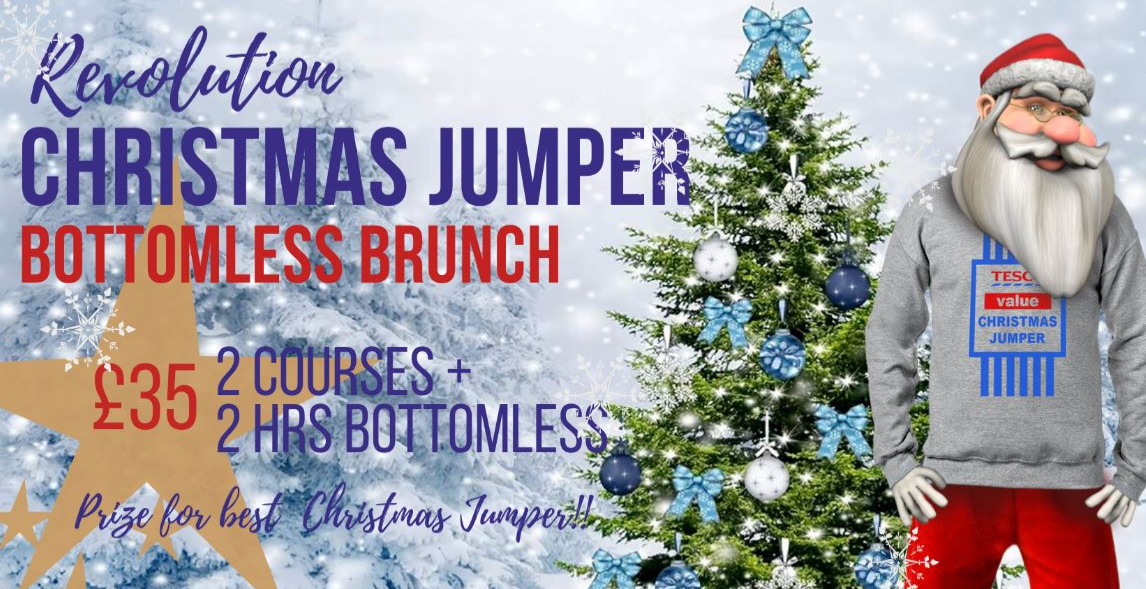Christmas Jumper Bottomless Brunch at Revolution Leadenhall