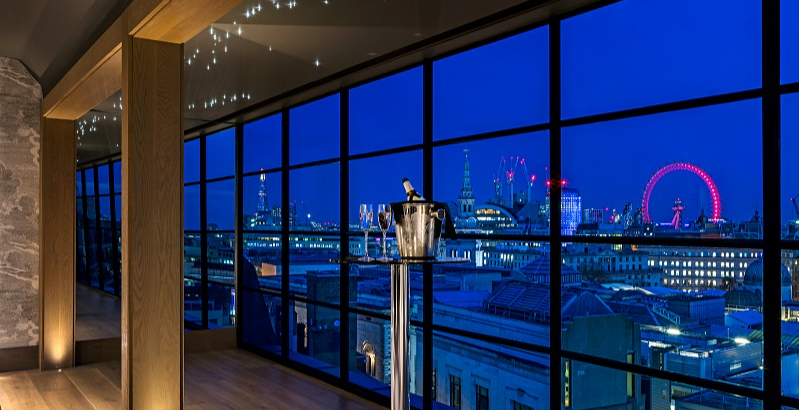 New Year's Eve at the Hampshire Penthouse, Leicester Square