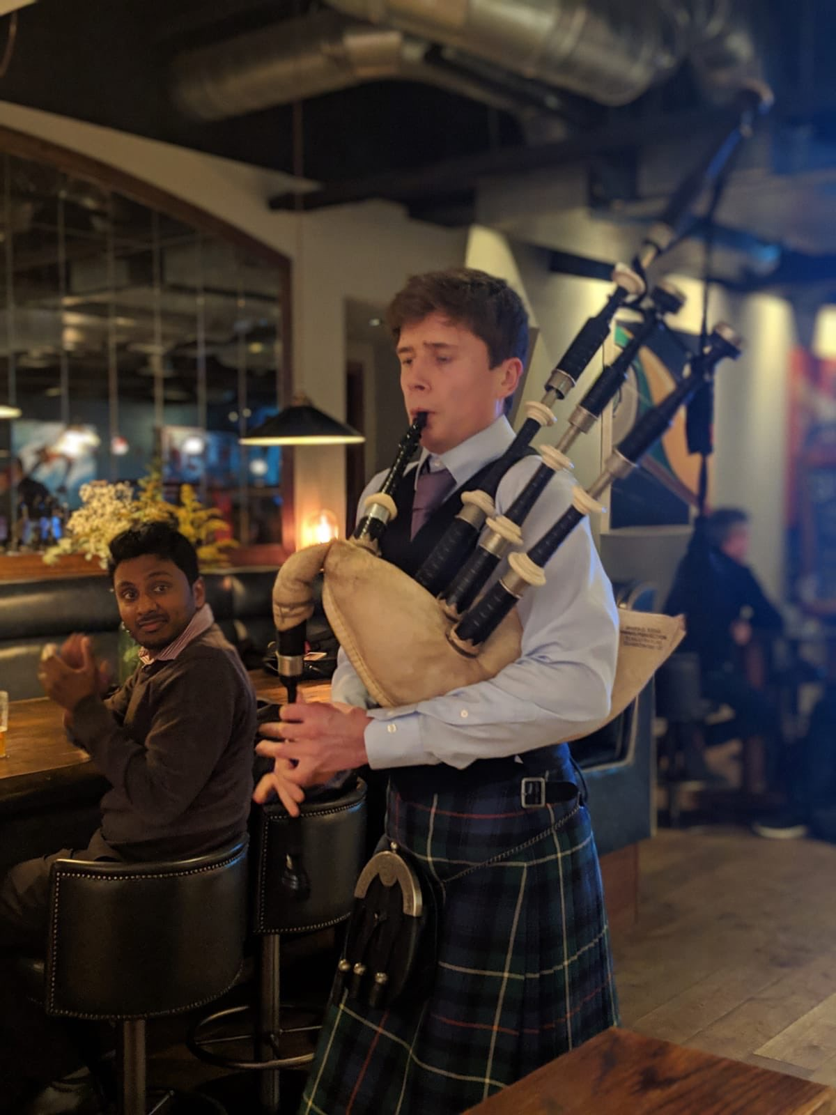 Burns Night supper with bag piper and free Scotch cocktail on arrival
