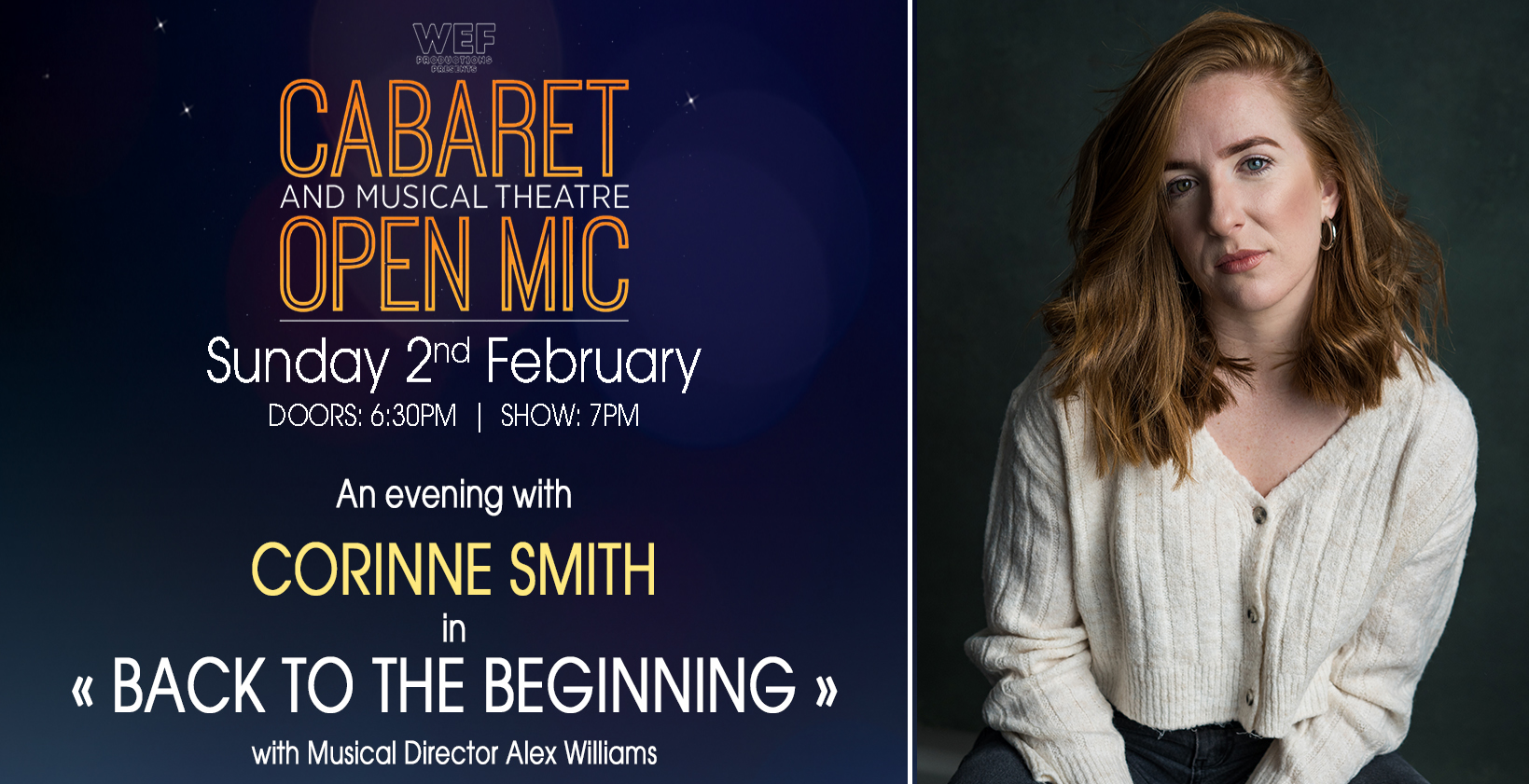 CABARET & MUSICAL THEATRE CONCERT & OPEN MIC with CORINNE SMITH
