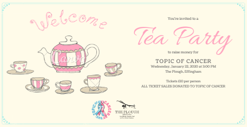 Topic of Cancer Charity Cream Tea