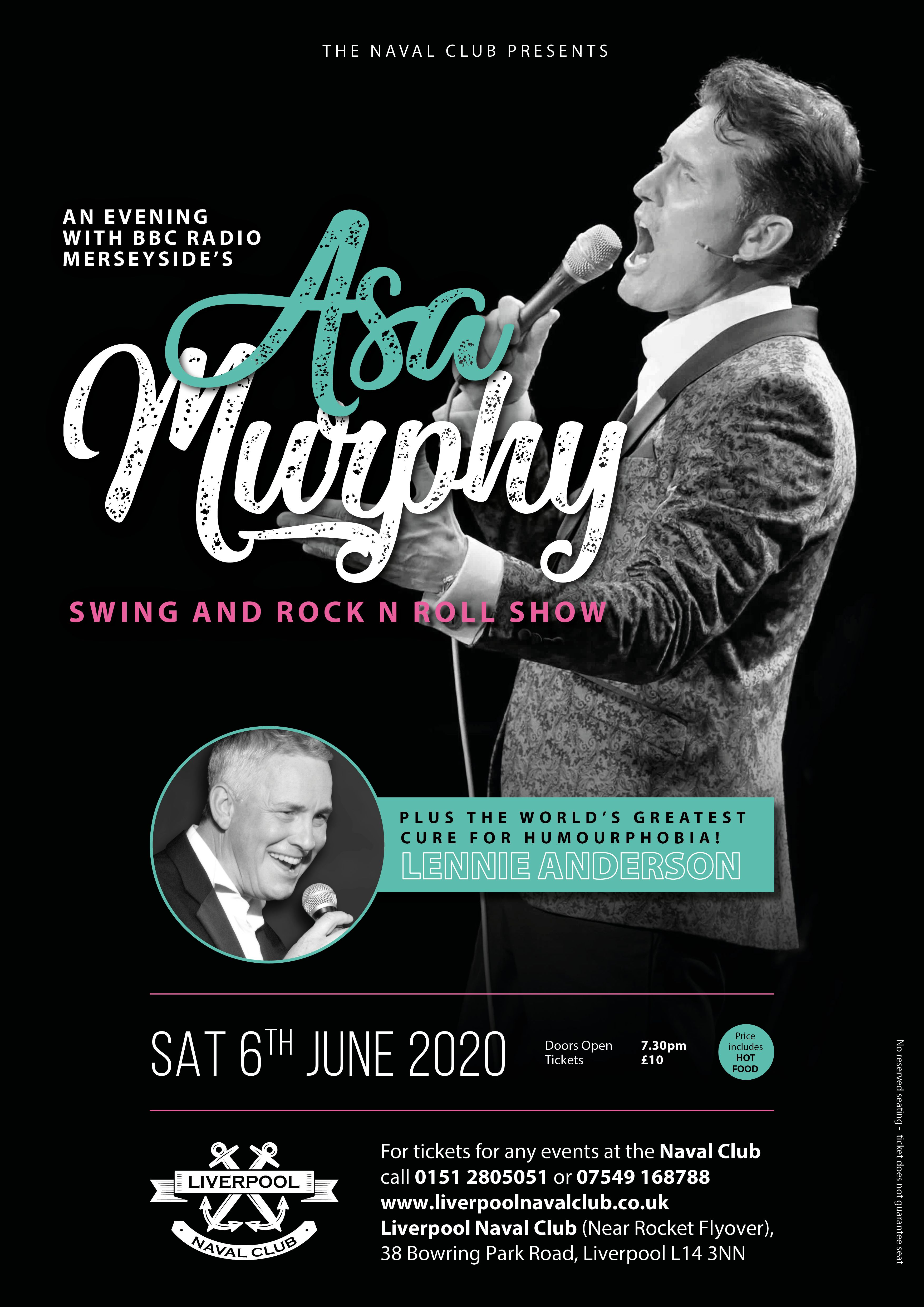 An Evening with BBC Radio Merseyside's Asa Murphy - Swing and Rock n Roll Show - Plus Comic Lennie Anderson