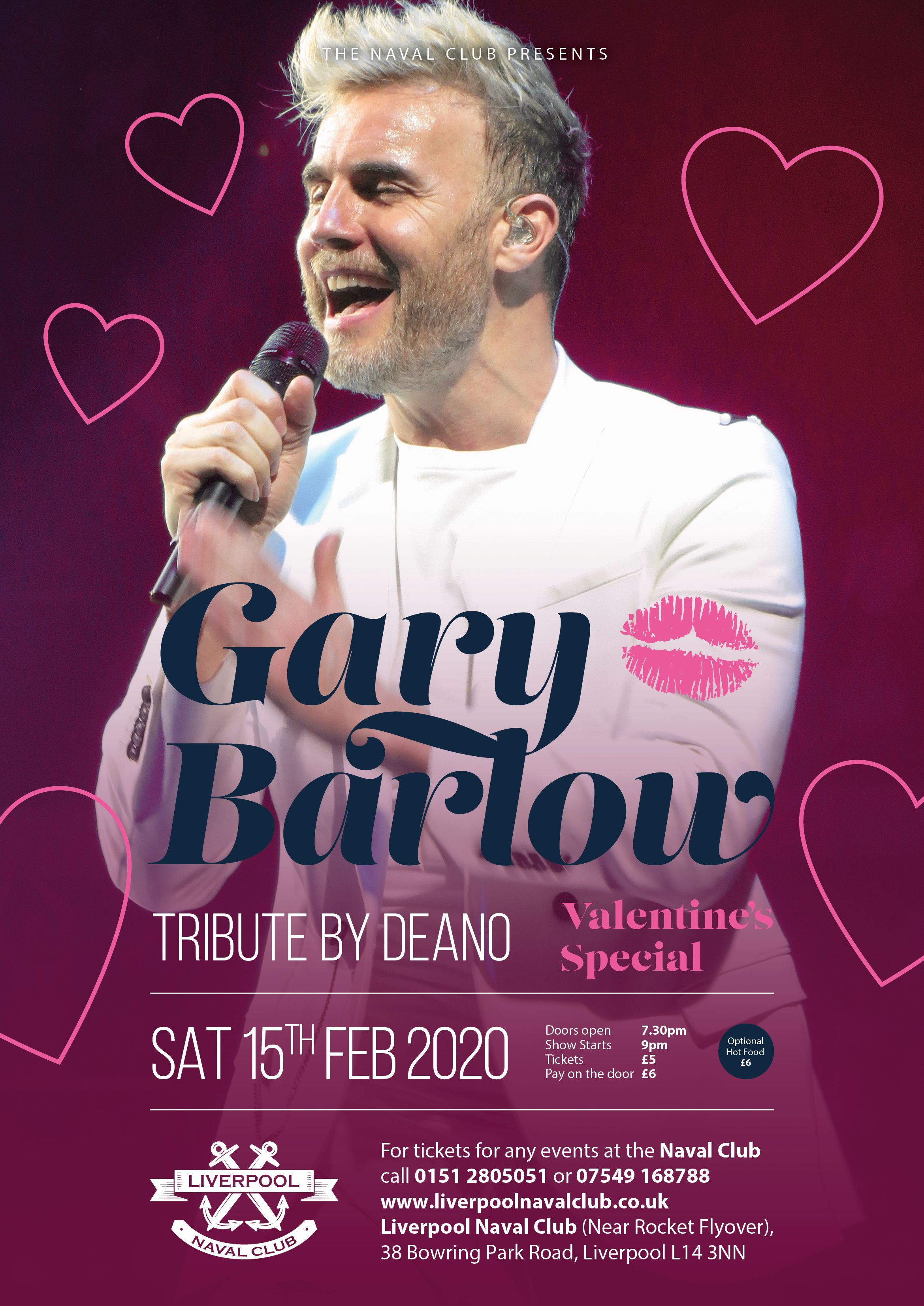 Valentines Special - Ultimate Gary Barlow Tribute - by Deano
