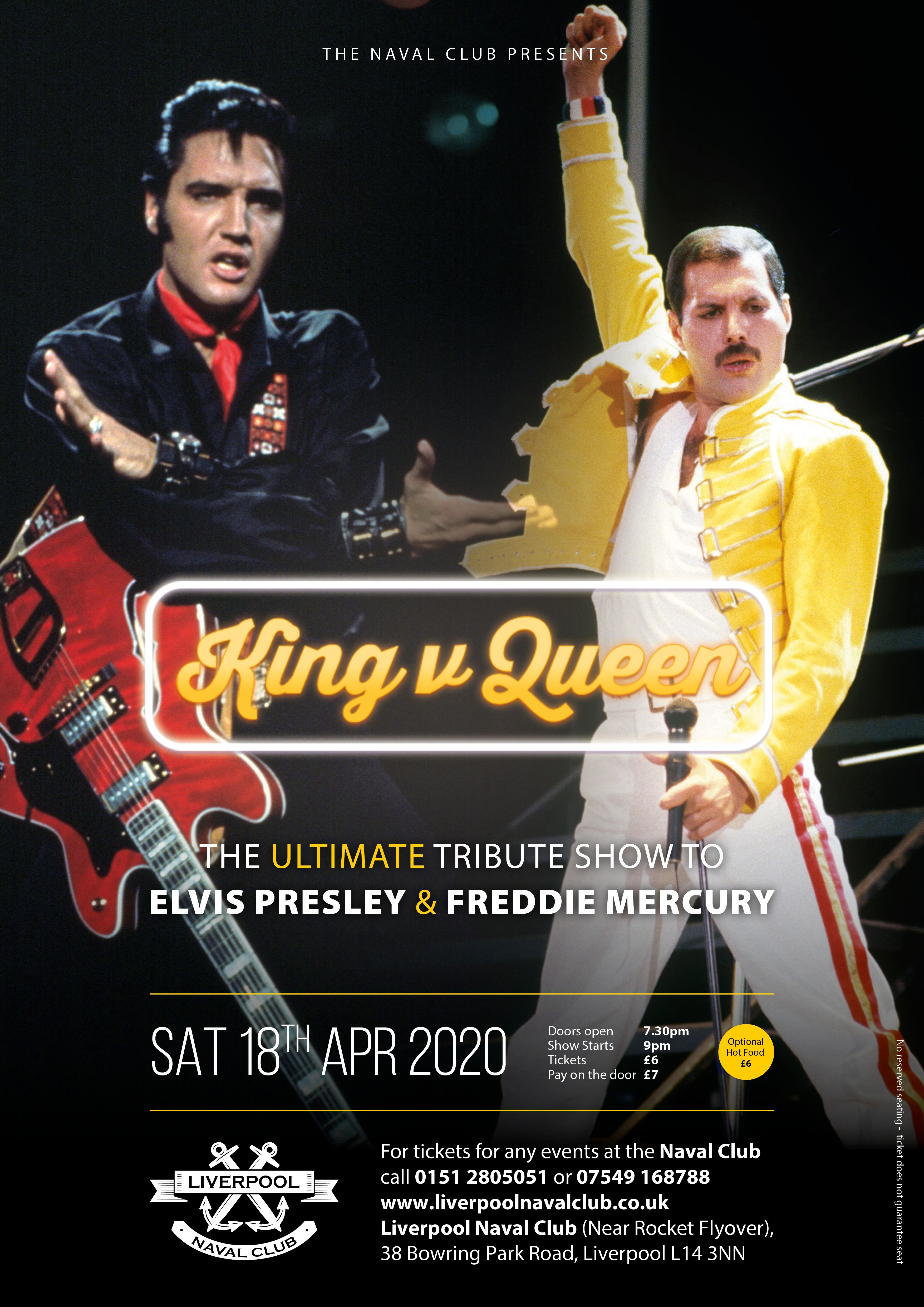 KING v QUEEN The Ultimate Tribute Show to Freddie Mercury & Elvis Presley