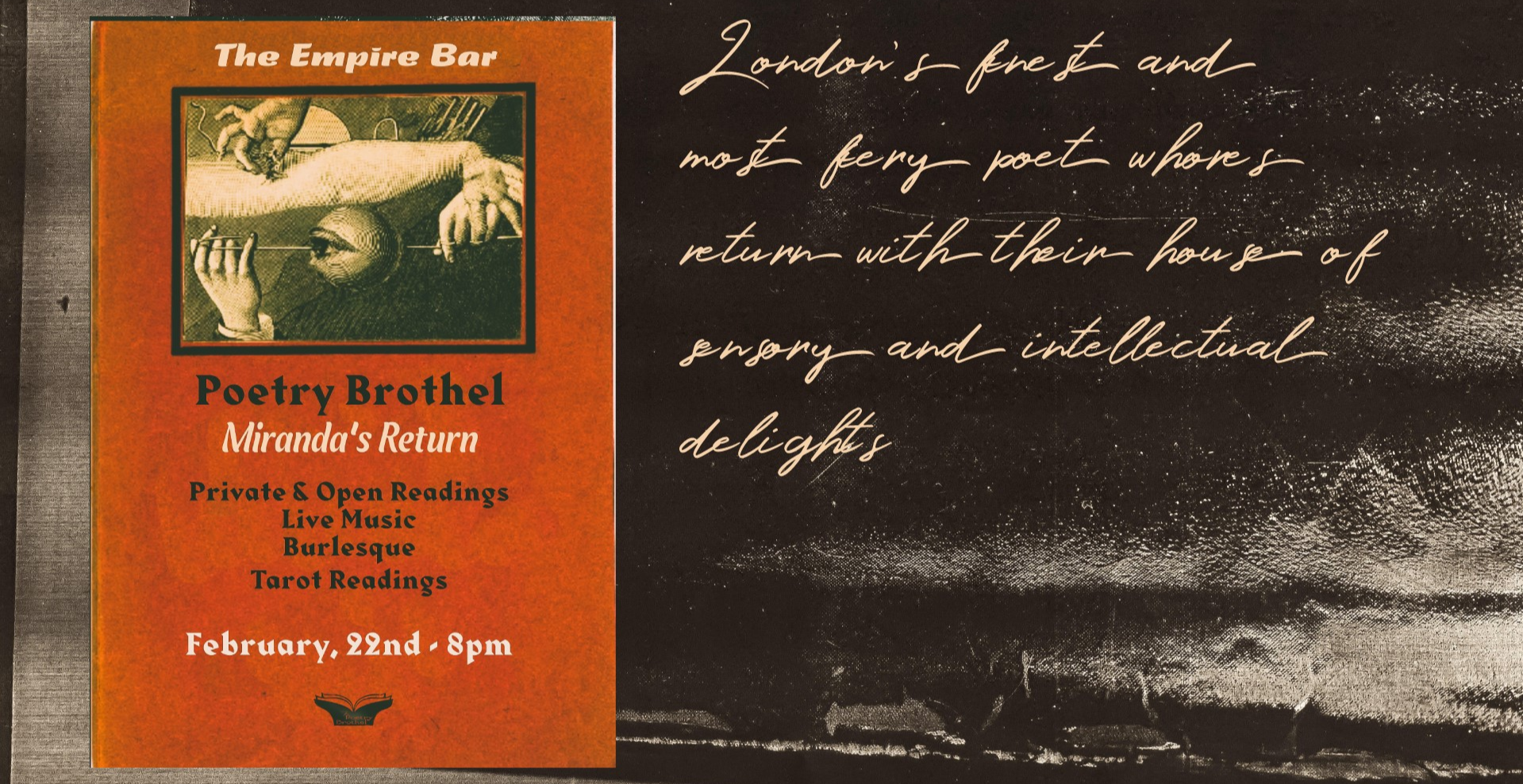 Poetry Brothel London -Miranda's Return-