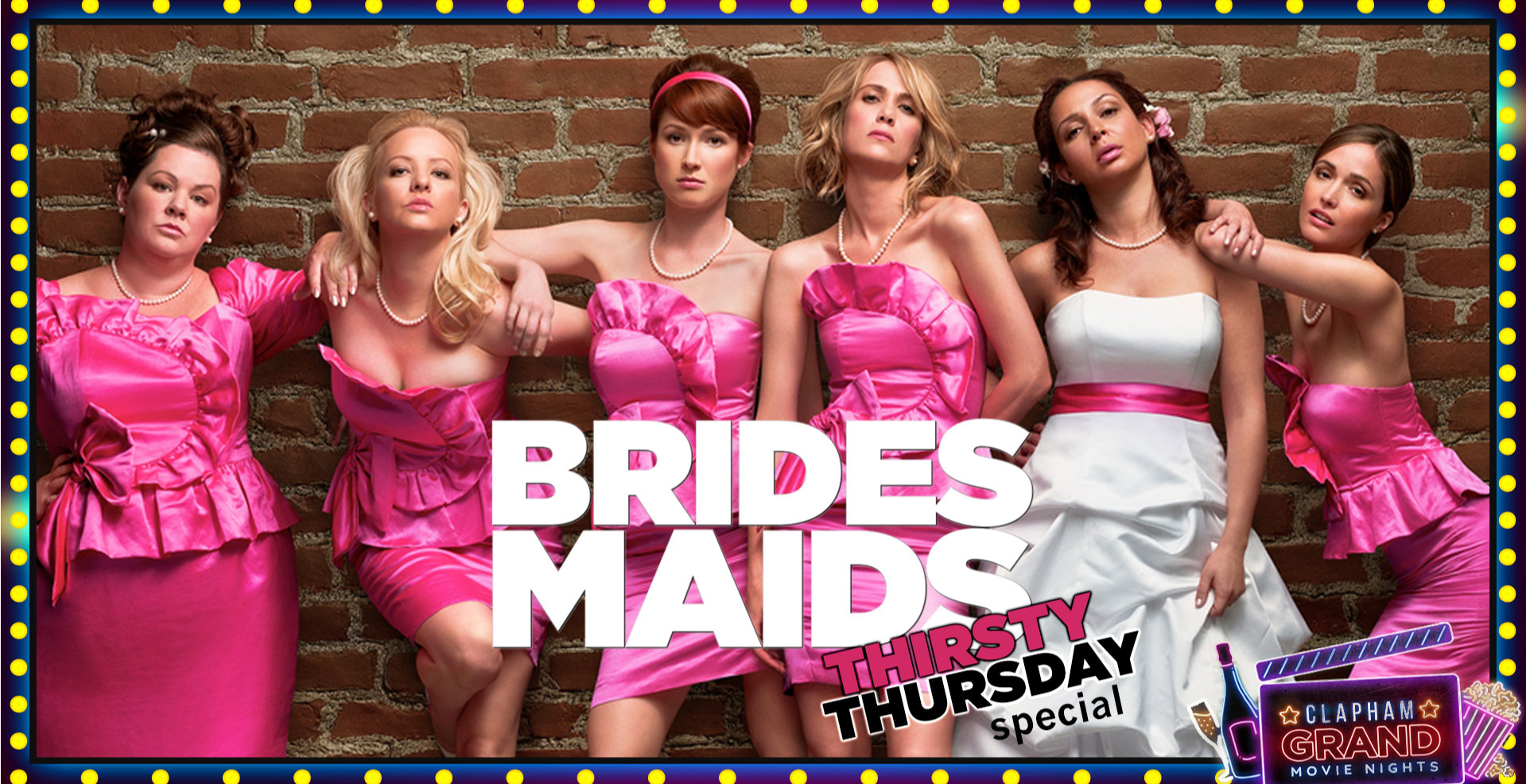 Bridesmaids Drink-Along Movie Night - Thirsty Thursday Special