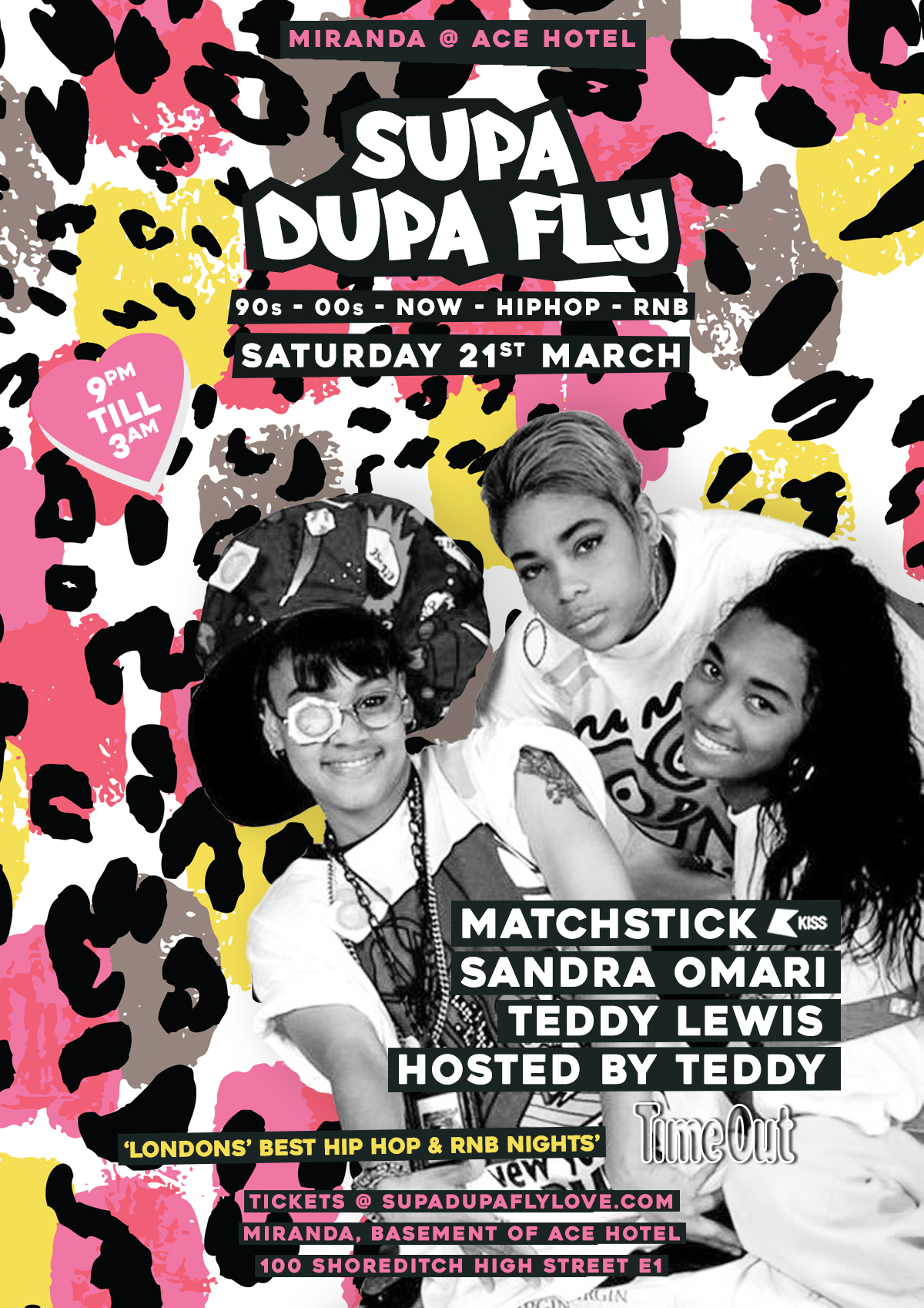 Supa Dupa Fly x Ace Hotel x 3rd Sat's x March / April Cancelled