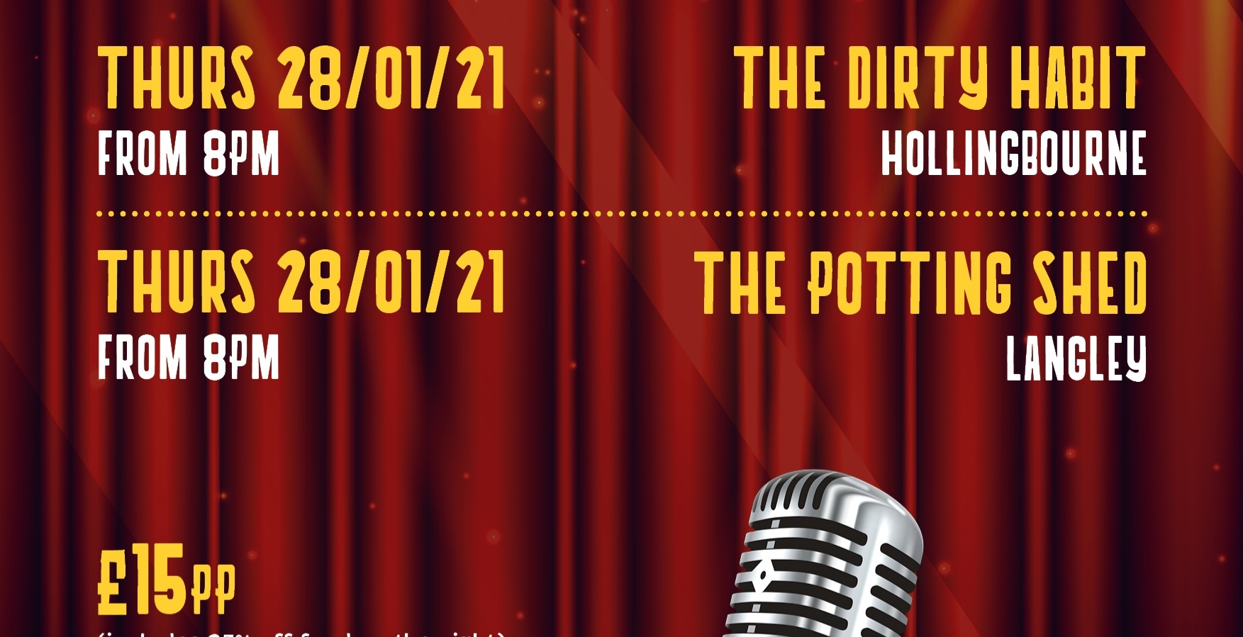 Comedy Night: The Potting Shed
