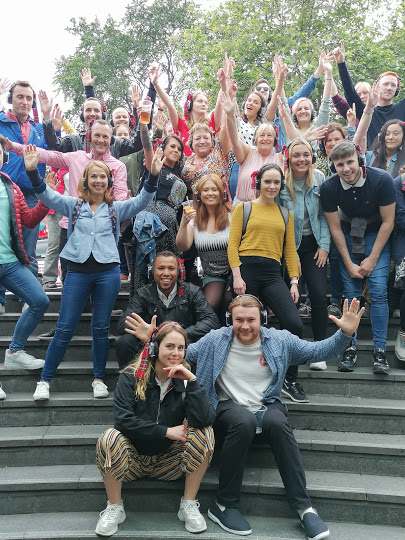 Silent Disco Open Air outdoor Musicals Tour of the West End Tour with Boogie