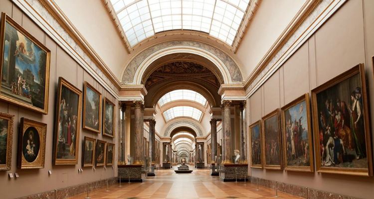 The Louvre online art galleries