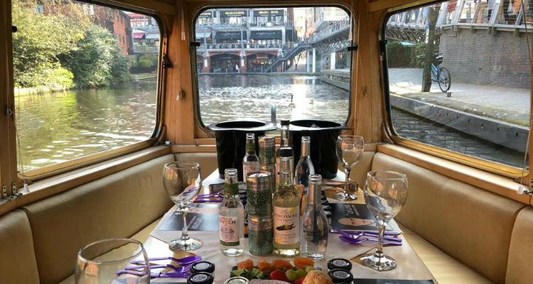 The Gintleman Picnic Cruise Birmingham Canal