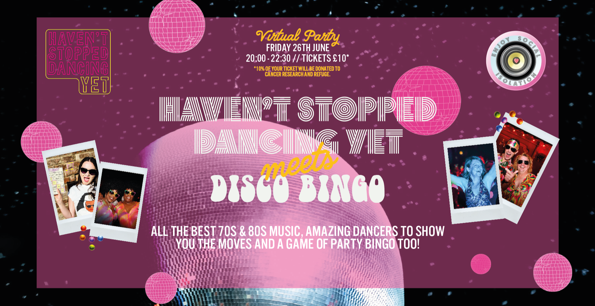 Haven't Stopped Dancing Yet Meets Disco Bingo