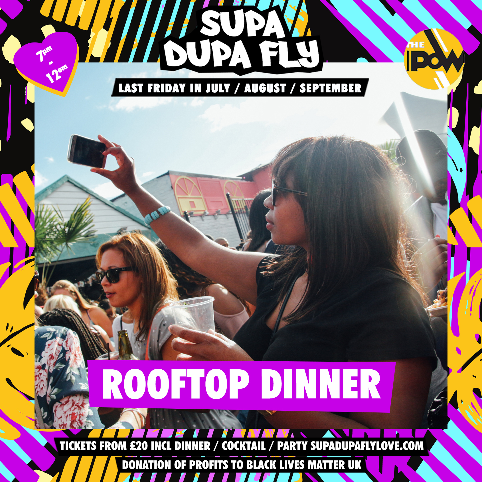 Supa Dupa Fly x Rooftop Dinner