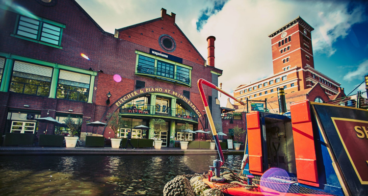 Birmingham Canal Cycle Path Pitcher and Piano