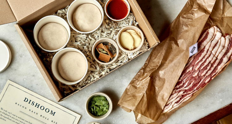 Dishoom bacon naan delivery kit