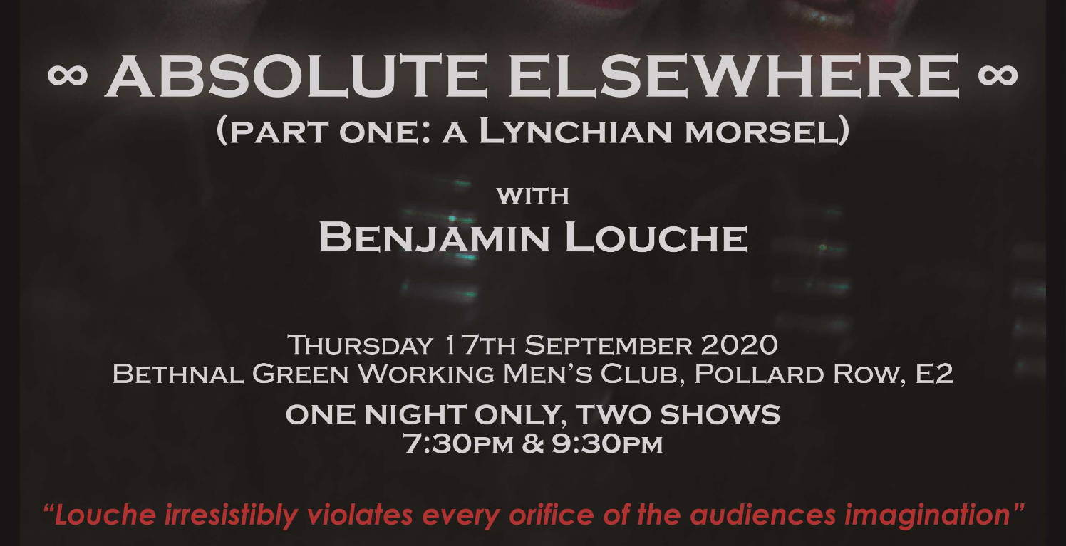 The Double R Club presents, ABSOLUTE ELSEWHERE