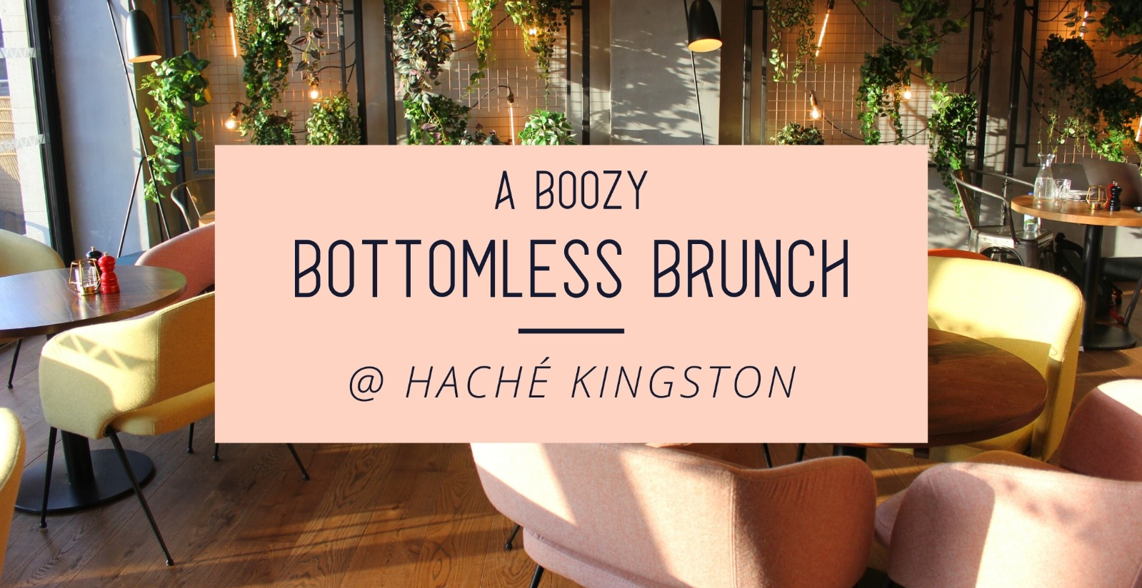 Two course bottomless brunch
