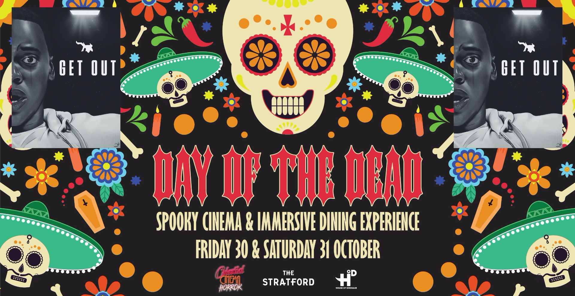 Day of the Dead Halloween 2020: Immersive Dinner & Screening of Get Out (15) 5PM: SOLD OUT