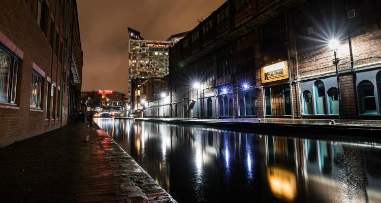 Gas Street Basin Birmingham Walks