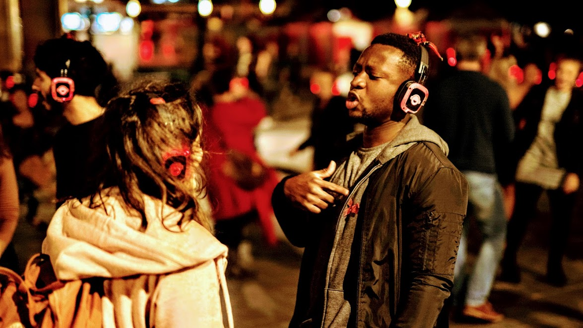 The late Valentine Boogie Shoes Silent Disco Walk through London's West End