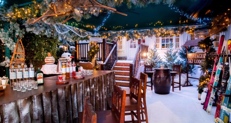 Montague Ski Lodge | Christmas Restaurants In London For Instagram | DesignMyNight