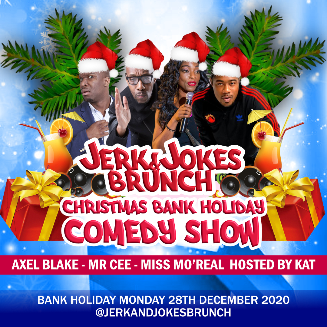 Jerk and Jokes Brunch Christmas Special (Bank Holiday)