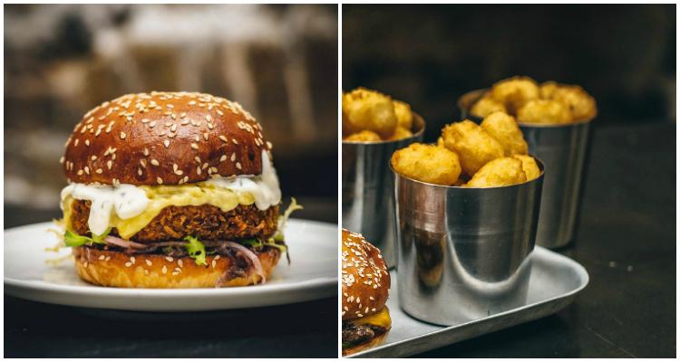 Burger and Beyond Vegan Raclette Burger London
