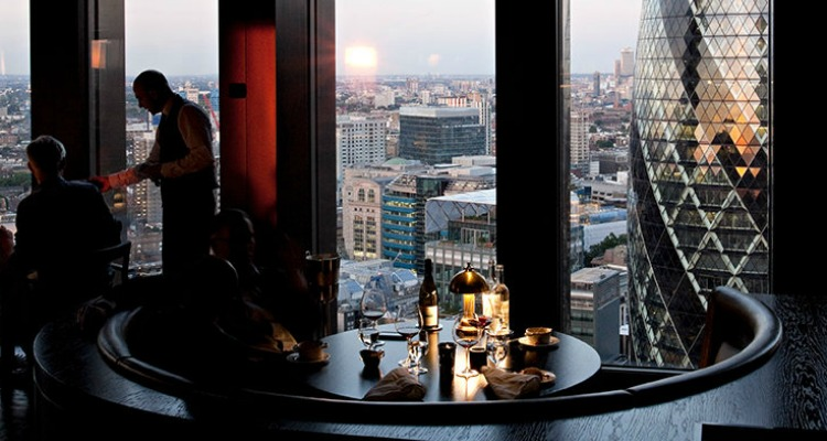 city social london luxury restaurant with views