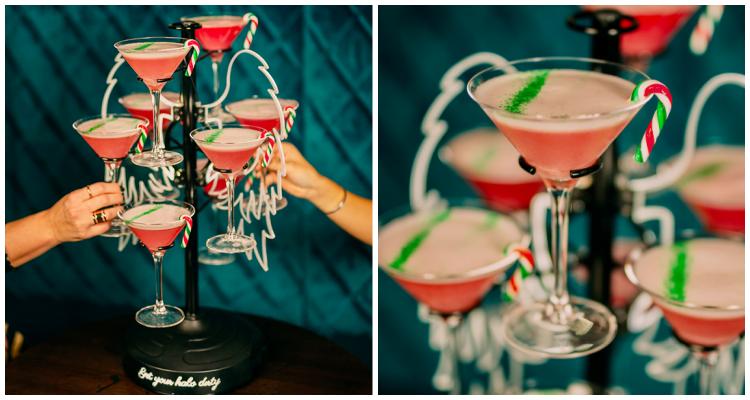 Dirty Martini Christmas cocktail