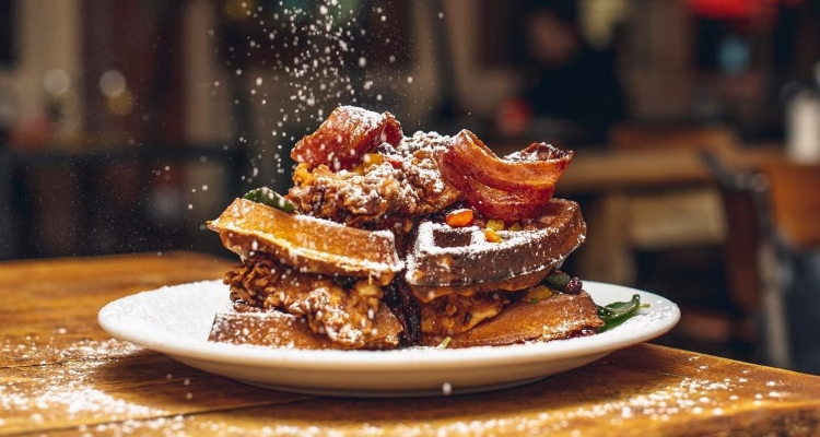 Breakfast Club Canary Wharf Chicken and Waffles London